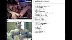 Super Hot Brunette babe masturbating on sexchat