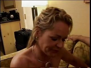 Sexy bitches sucking cock facials - Guy holds bitchs head while she sucks his cock on a couch