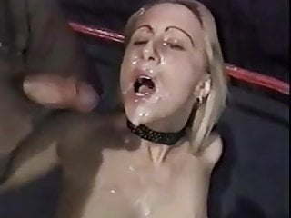 Blonde cum covered - 2 hot blondes cum covered