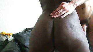 Sofa atmosphere: Ebony Fench Girl