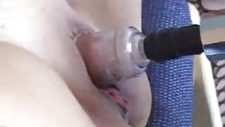 Pumping Her Tits and Pussy by snahbrandy