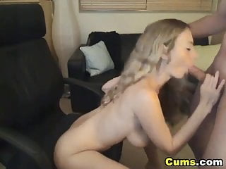 Cums hard with vibe Hot blonde wife fucked hd
