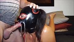 huge cumshot on masked girl
