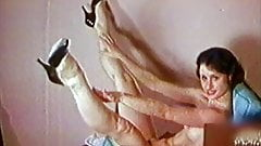 BORN TOO LATE - vintage 60's teen stockings tease