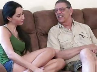 Old man young women sex - Young chick first time fucking with old man