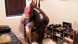 Mistress Michelle and the sissy blue dress