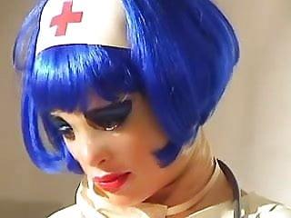 Latex nurse constume - Pumping latex nurse 2