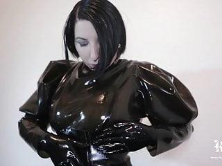 Woman latex masks Gas mask dream time