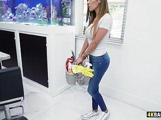 Vegas gay bath house - Housekeeper alexa vega cleans the house and everything