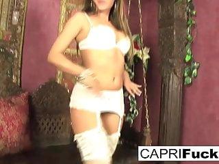 Jordan capri hot pussy Capri fucks her pussy in some hot white lingerie
