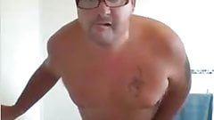 sexy chubby dad showering!