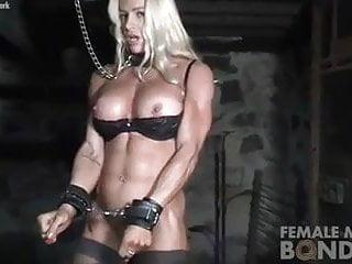 Sexy muscular female legs Muscular female jill bound in dungeon