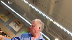 Charming old man at the supermarket