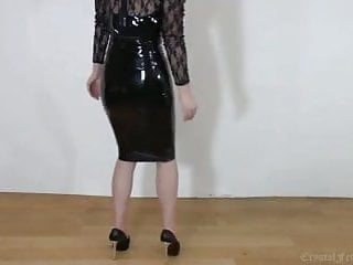 Sexy back wma Back latex, legs and heels, sexy whore