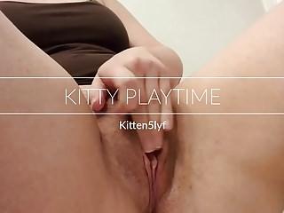 Milf with kitten 39 Kittens playtime