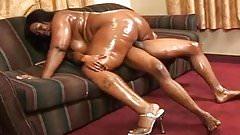 Black BBW oiled ass