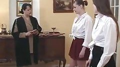 School cane and humiliation for 2 schoolgirls