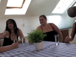 Size mature Amazing group fuck with various sized mature moms