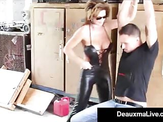 Fuck cats Role play by sexy cat woman milf deauxma ends in 3 way fuck