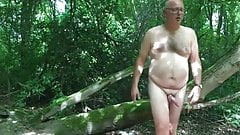 Daddy outdoor play and cum
