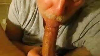 Moustache Daddy bear blowjob 2