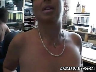 Milf home office redtube Busty amateur milf home action with facial