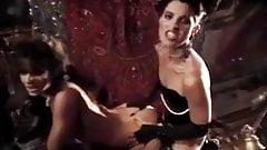 Aja, Renee Morgan in old school porn star fucks a chick with