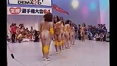 Asian group of naked girls