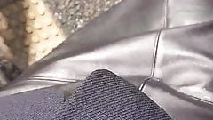 leather skirt japonese heels