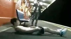 Dare to JO and cum on the train station