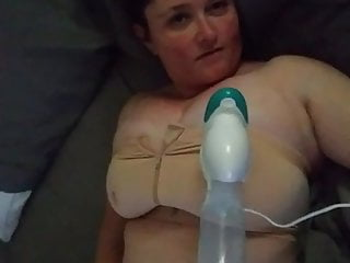 Style advanced breast pump Masturbating and using a breast pump