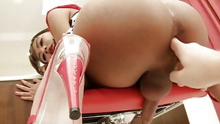 Little Ladyboy Ass Toyed Cum