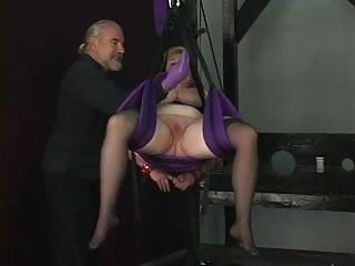 Hand helpers latex disposable gloves - Slave gets bound by ropes and dom puts a glove deep in her pussy