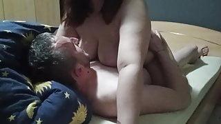 Slutty pregnant wife rides stranger's huge cock