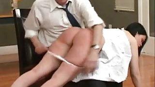 Tight Susy otk leg's end creep ass