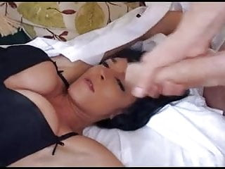 Some fine ass Dude with a big cock jerks off on some fine tits