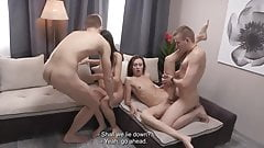 2 young couples foursome