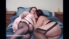 BBW Lesbians Cinnamon and Peaches eat pussy