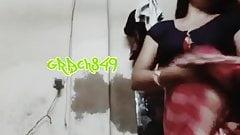 Bangla boudi selfmade saree strip n masturbate