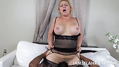PAWG Selah Rain Takes on 1 BBC and 2 Sexy Black Babes