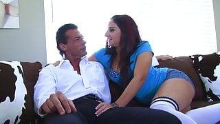 Tiny tits hot brunette