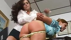 Office girl spanking