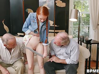 Fuck dolly for husband - Petite young dolly little fucks old cock