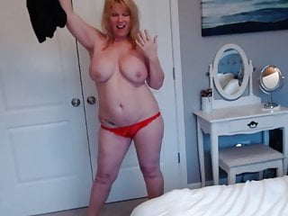 Mom strips for fun - Wife strips for cam