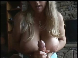 Large cumshot compilation - Hot chick with large tits handjob