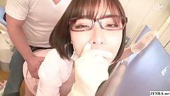 JAV star Eimi Fukada real Japanese dentist office risky sex