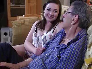 Oldman handjob Oldman fuck girl