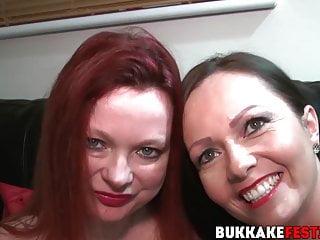 Skinny busty cum - Busty cum slut samantha sucking on massive cocks in orgy