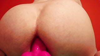 Twink Rides Favorite Toy With His Sloppy Hole