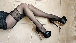 Nylon Tights, Fake Stockings, High Heels